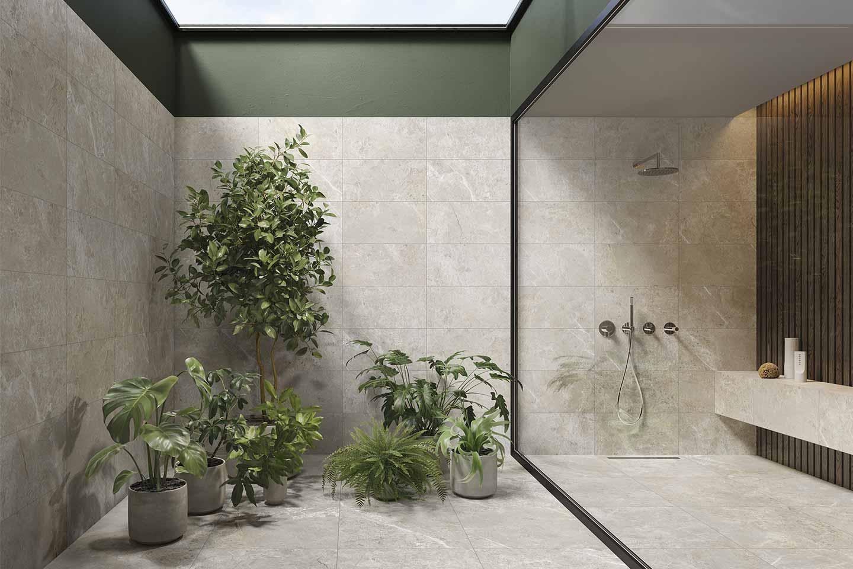 bagno grande con doccia doppia