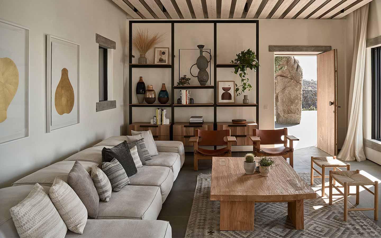 stile naturale in soggiorno