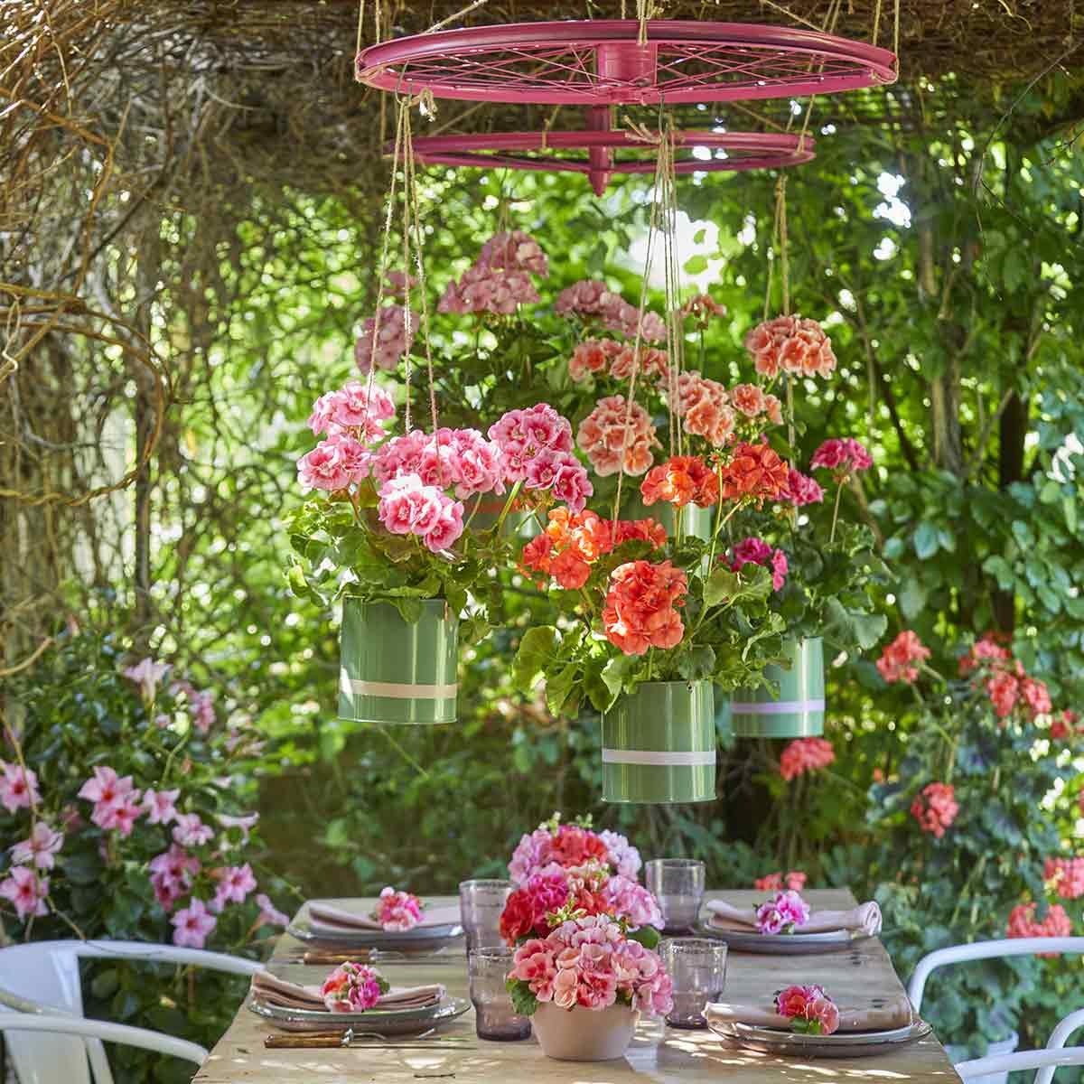 decorazioni fai da te con fiori per la tavola