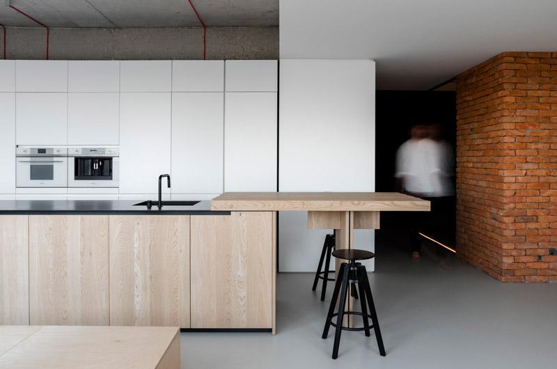 cucina minimalista bianca
