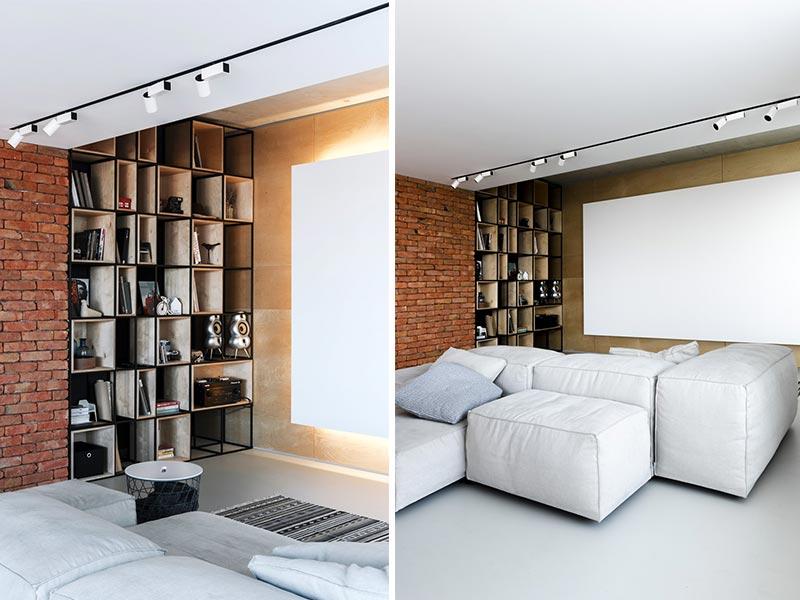 libreria stile industriale