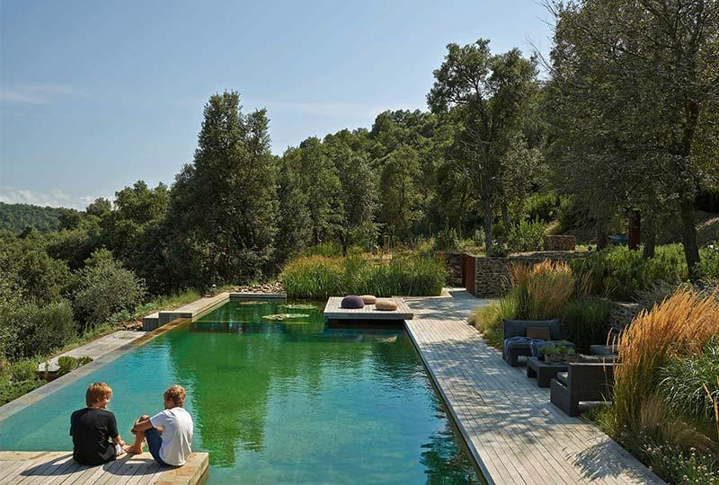 piscina naturale in giardino
