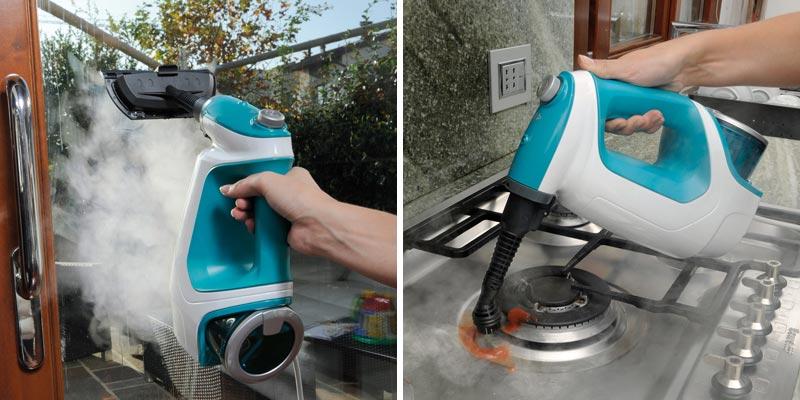 pulire le superfici di casa con il vapore