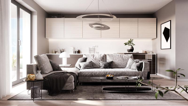 living appartamenti quartiere Uptown Milano