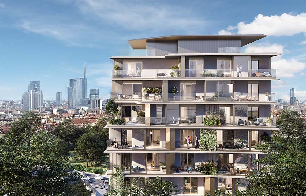 Torre piccola nuovo quartiere residenziale Uptown Milano
