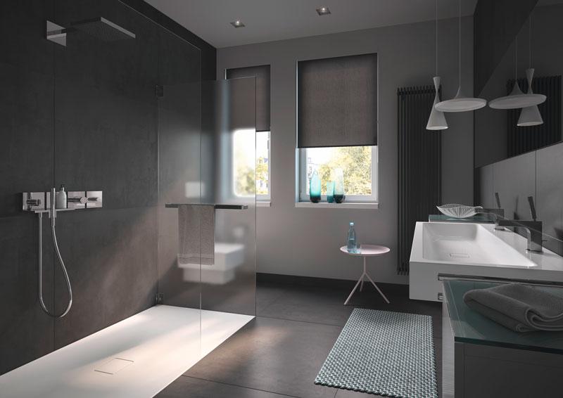 bagno di colore grigio