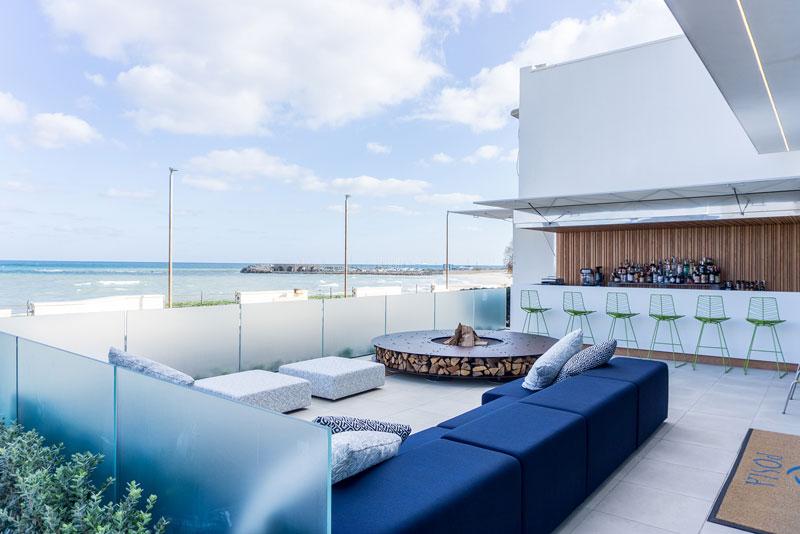 divano modulare blu di Living Divani