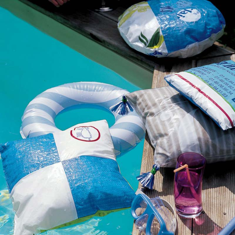 fodere cuscini fai da te in plastica riciclata