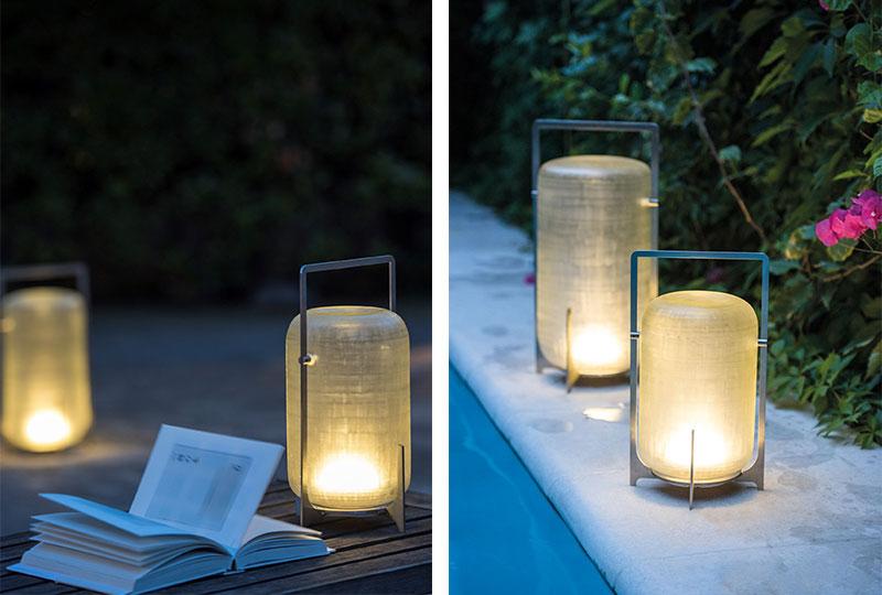 lampade senza fili in vetro satinato