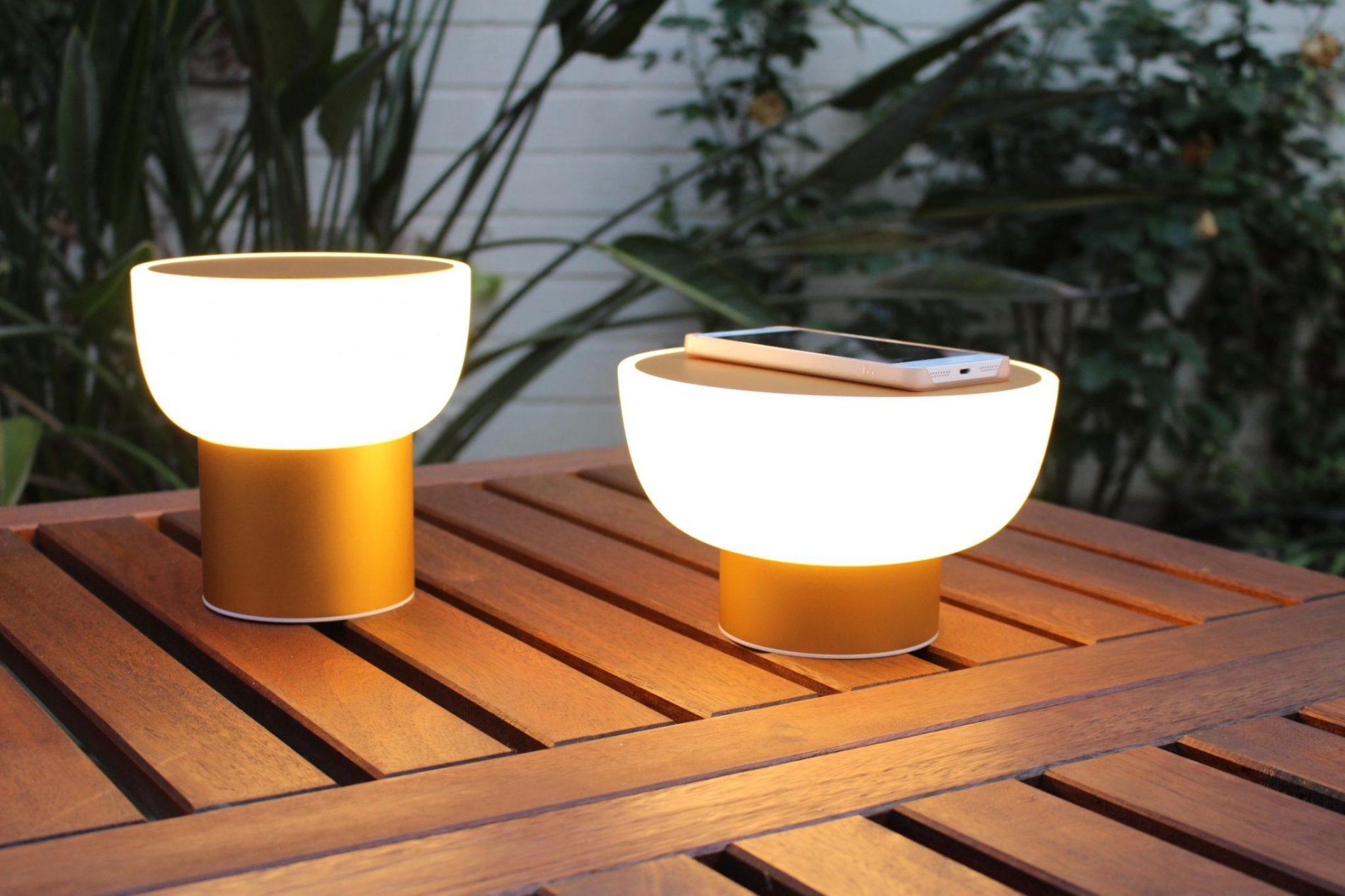 lampada senza fili ricaricabile di design