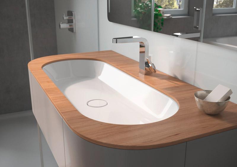 lavandino bagno dalla forma arrotondata