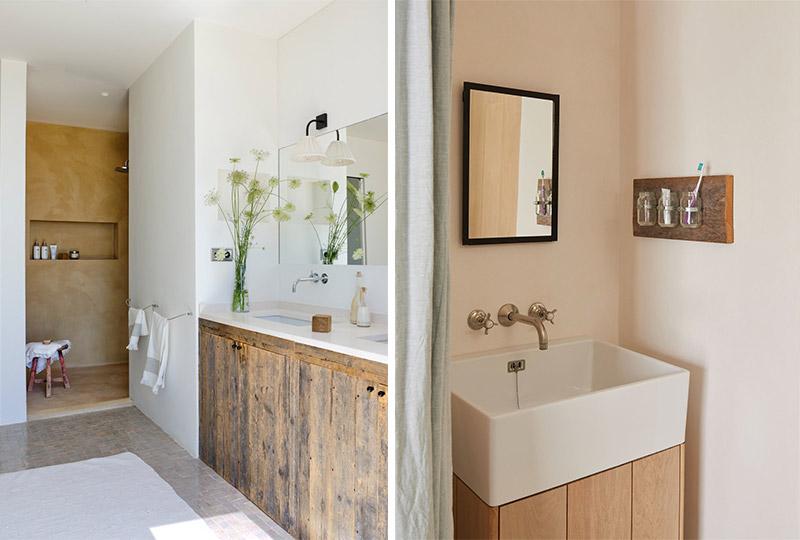 ante mobile bagno in legno riciclato