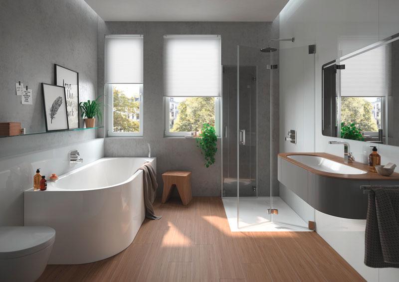 sanitari dalla forma arrotondata per bagno piccolo