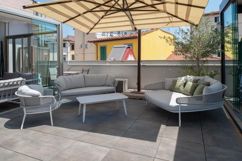 angolo relax in terrazza