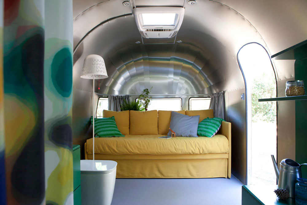 interno di design caravan Silverfield