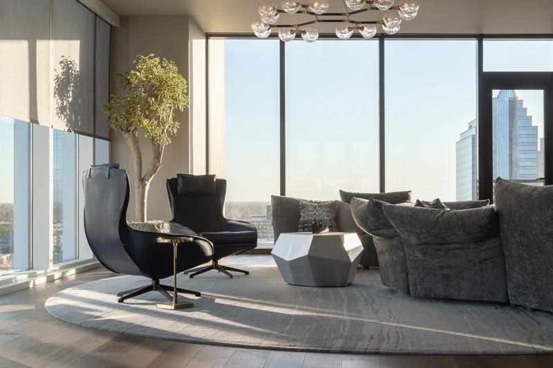soggiorno moderno attico a Sacramento