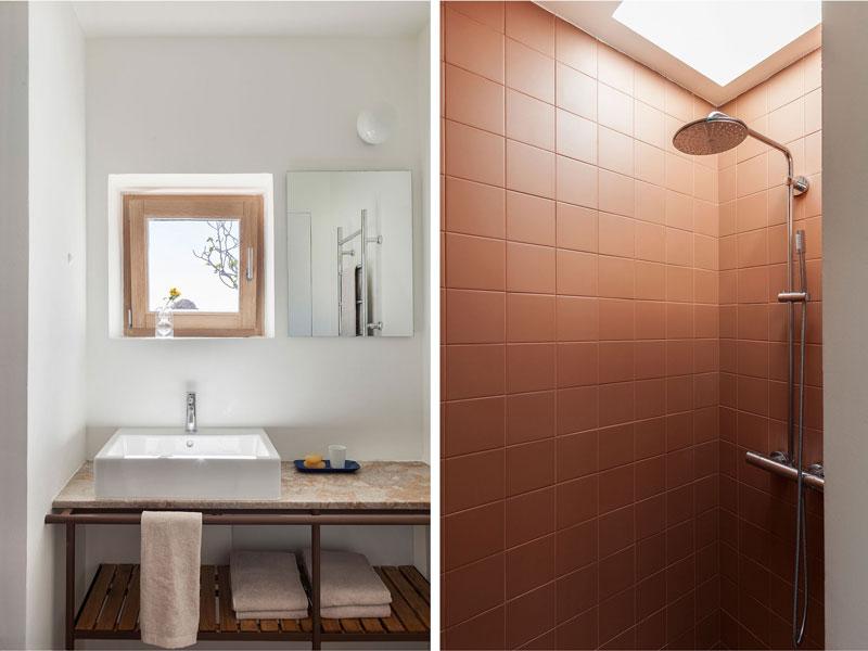 bagno con doccia di Patio Houe