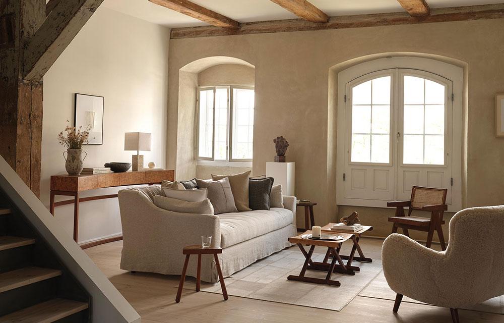 living dai materiali e colori naturali di Zara Home