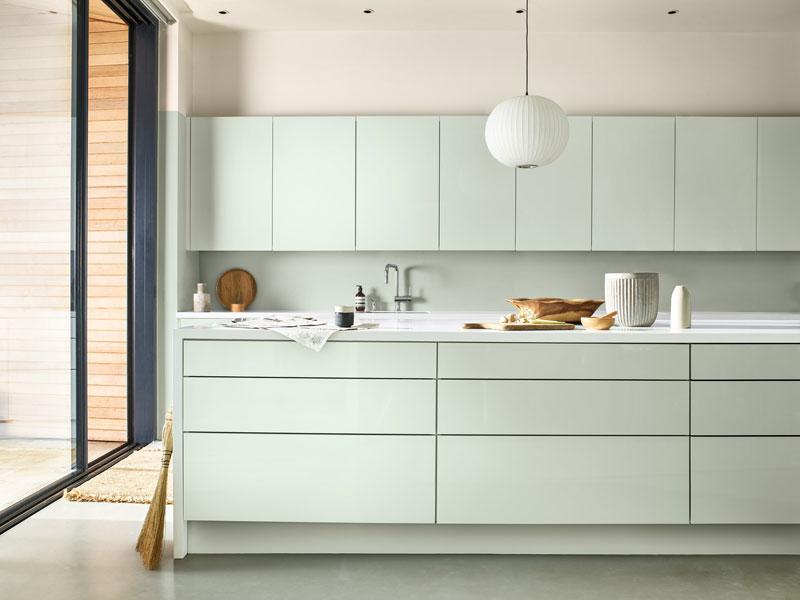 cucina di colore tranquil dawn