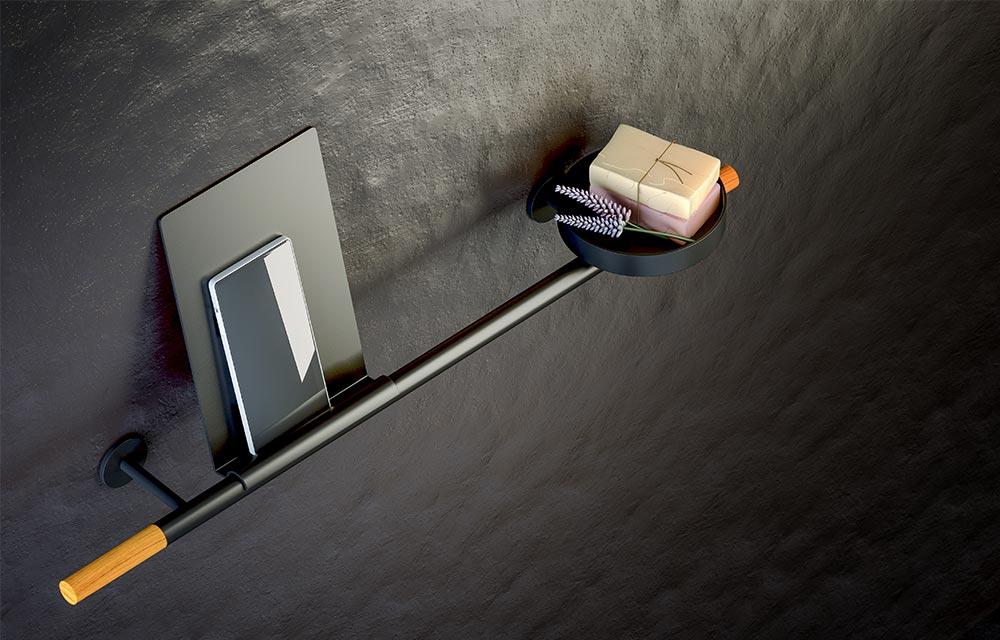 barra portatutto appesa a parete