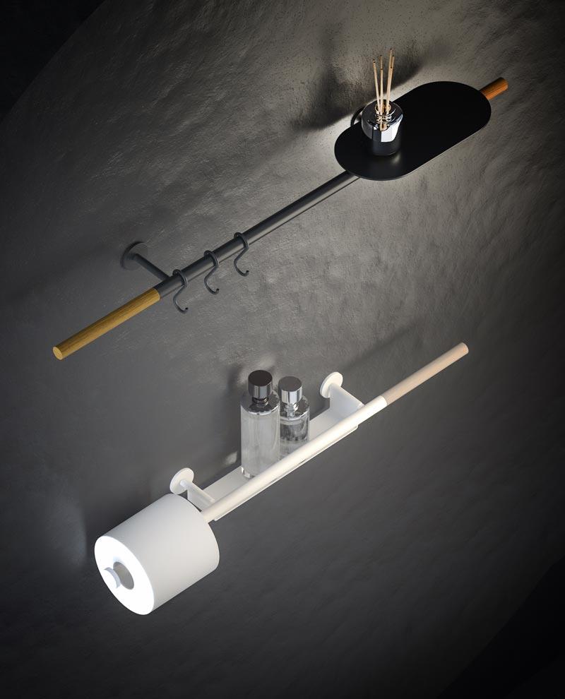 barra porta accessori da bagno