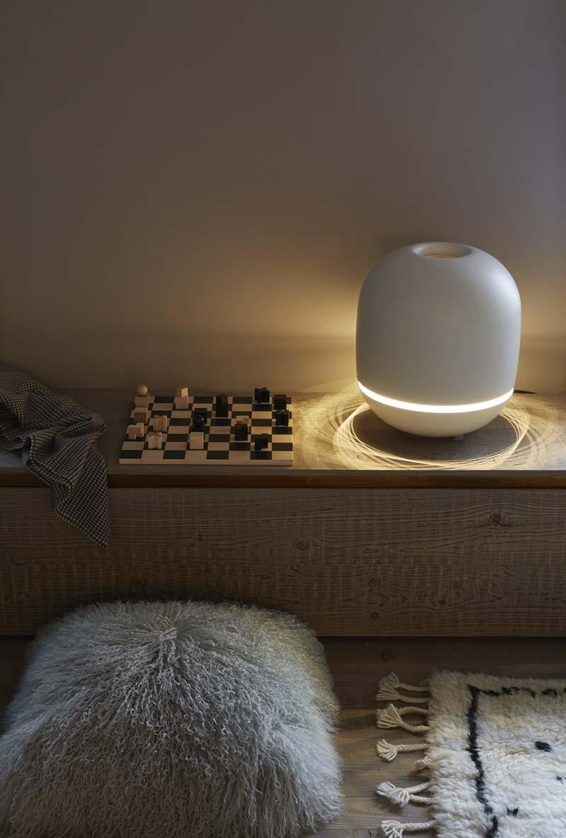radiatore elettrico con luce incorporata