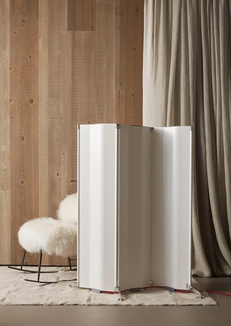 radiatore elettrico a forma di paravento