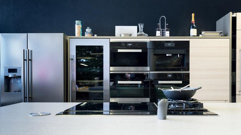 cucina domestica con abbattitore di temperatura