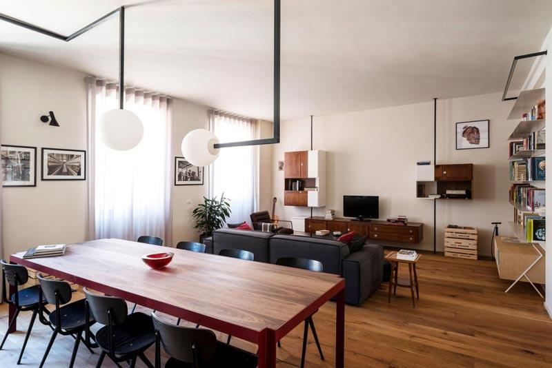 zona giorno appartamento ristrutturato