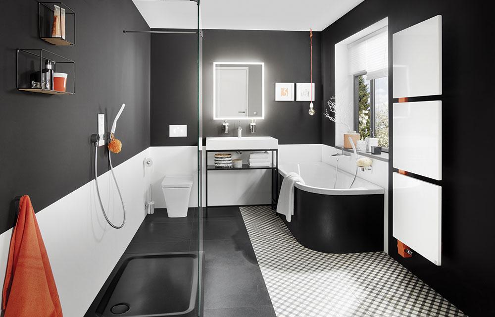 Bagno Moderno Bianco E Nero.Anche In Bagno Black Is Beautiful Dettagli Home Decor