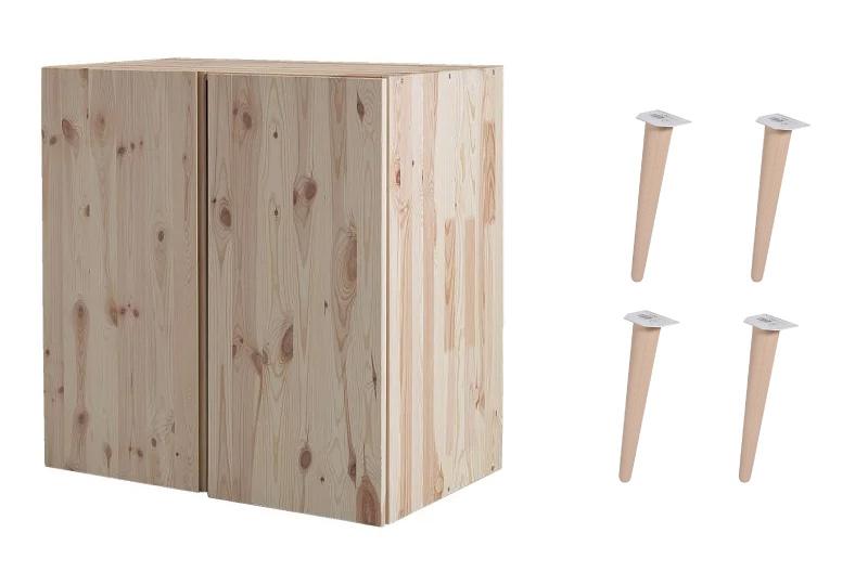 Mobili In Legno Grezzo Ikea.Ikea Hack Cambia Look Al Mobile Di Pino Ivar Dettagli Home Decor