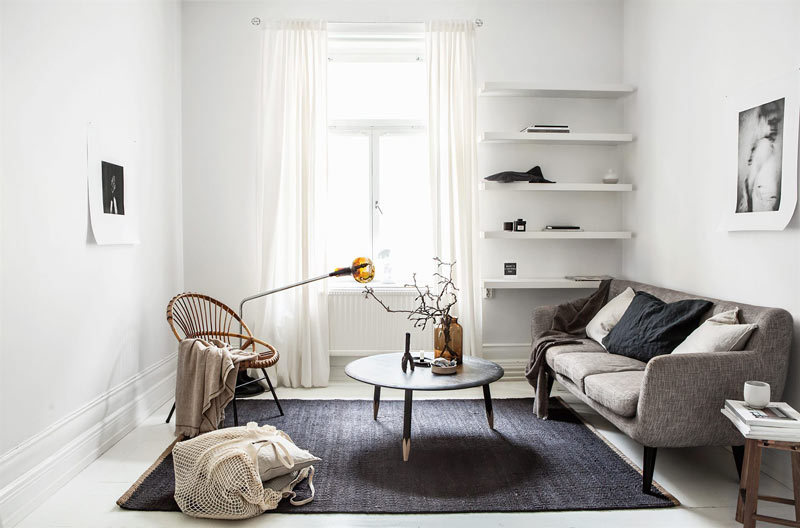 soggiorno piccolo bene organizzato