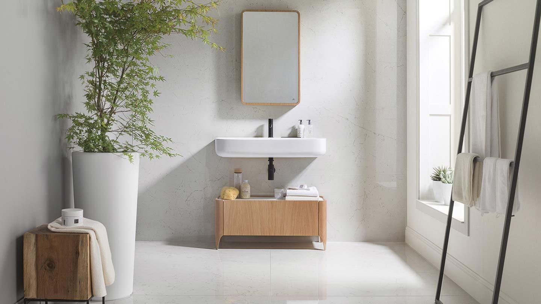 bagno dal design minimalista