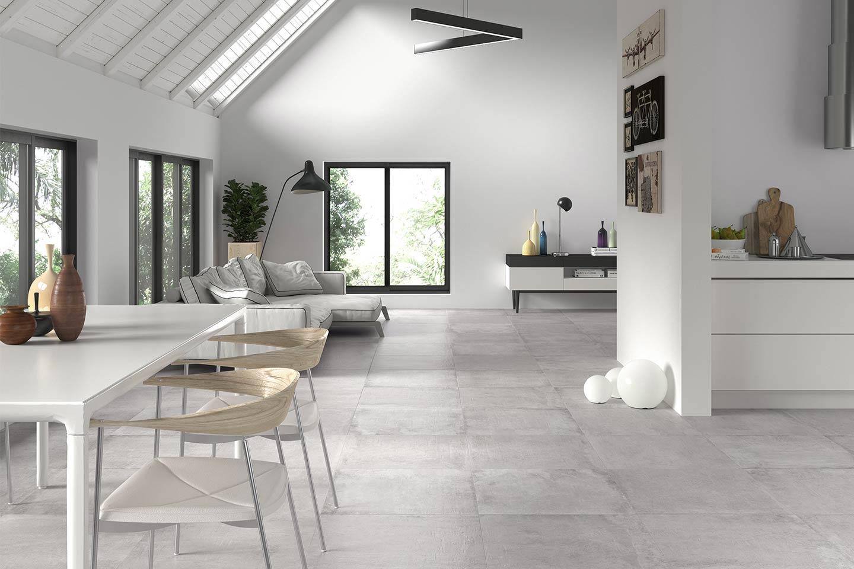 interno bianco e minimalista