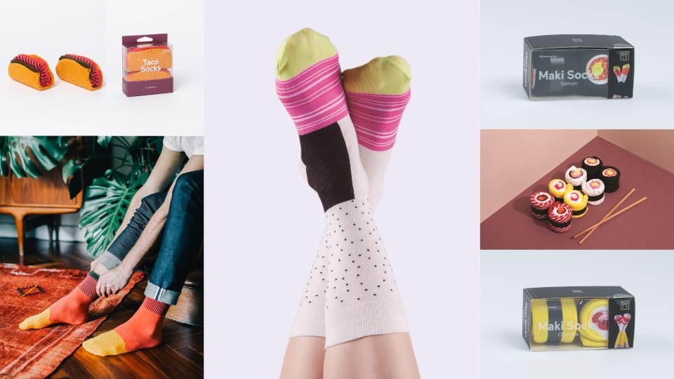 calze di cotone colorate