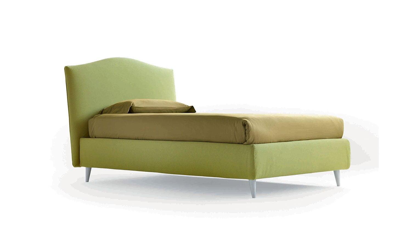 letto in tessuto verde