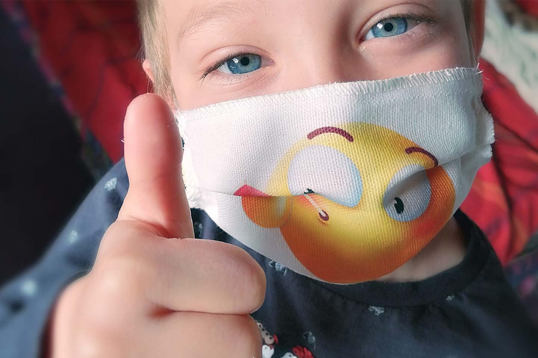 mascherina protettiva per bambini