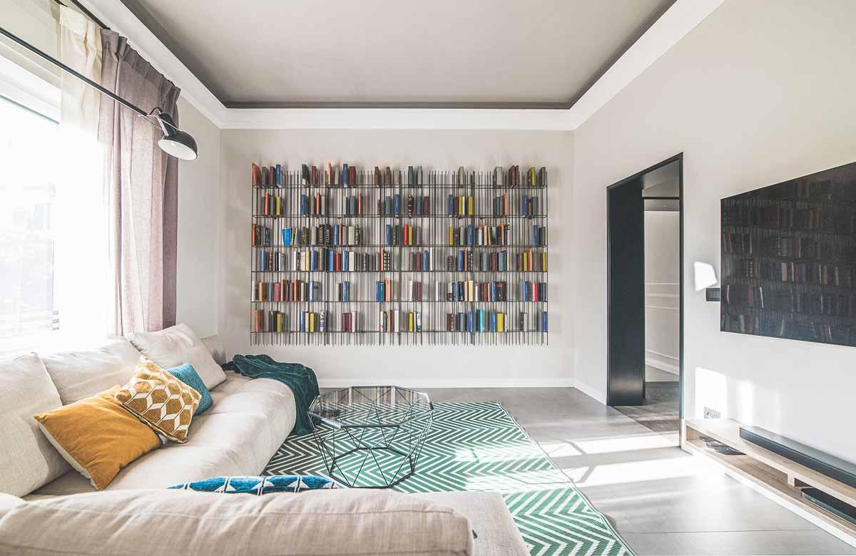 soggiorno appartamento ristrutturato