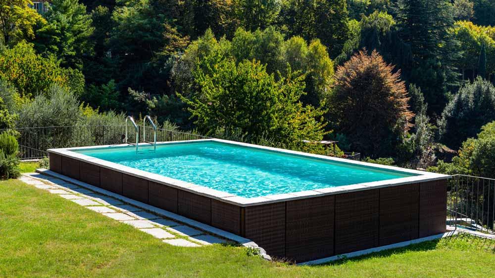 piscina fuori terra rettangolare