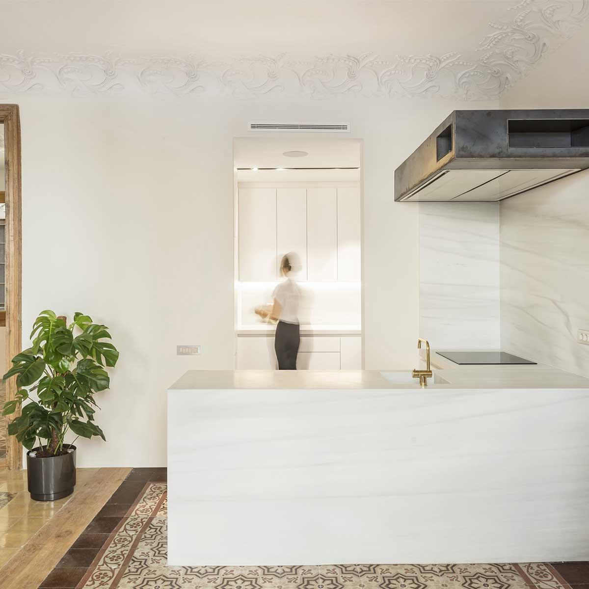 cucina appartamento d'epoca ristrutturato