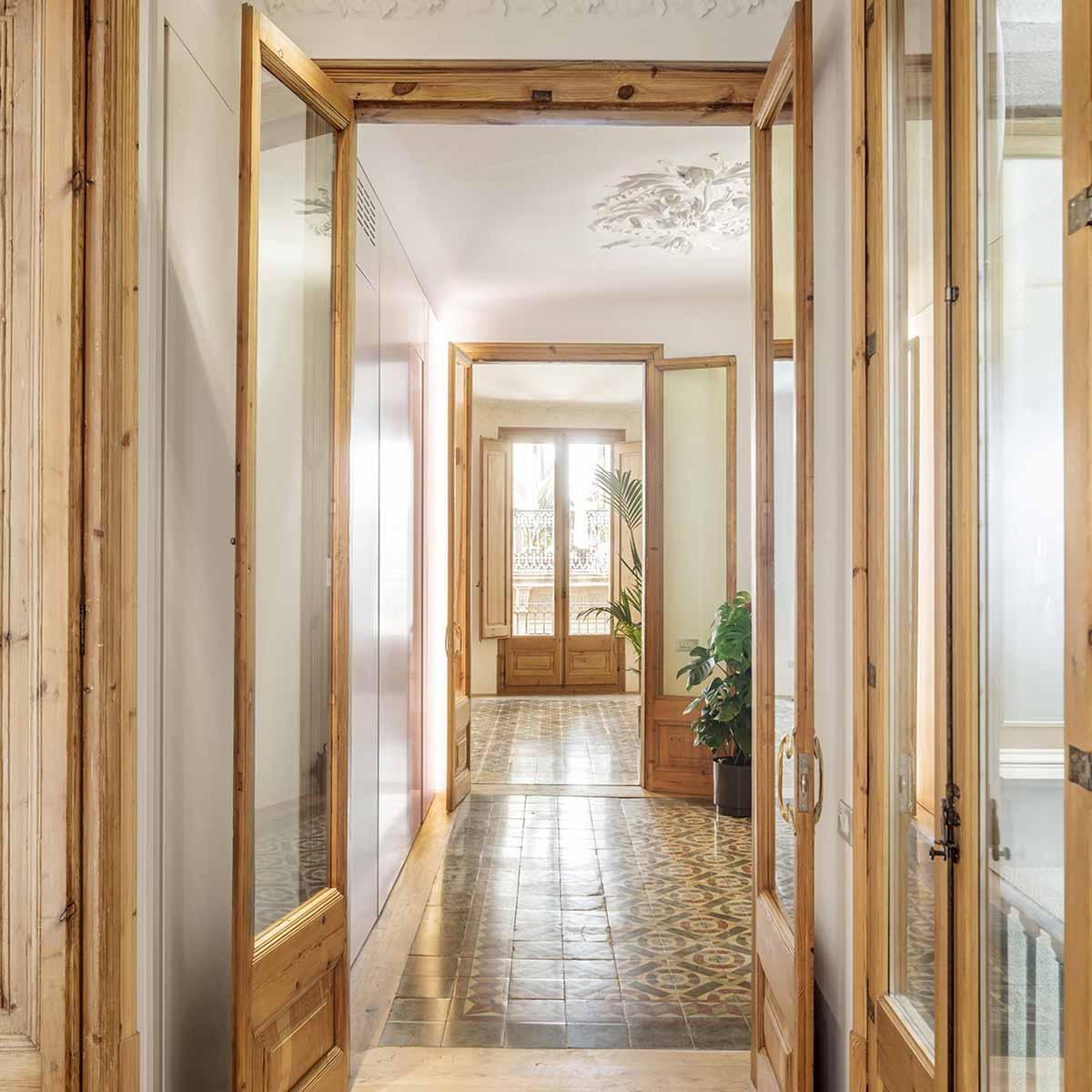 corridoio appartamento d'epoca ristrutturato