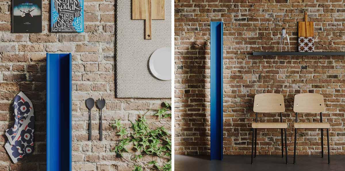 radiatore free standing blu