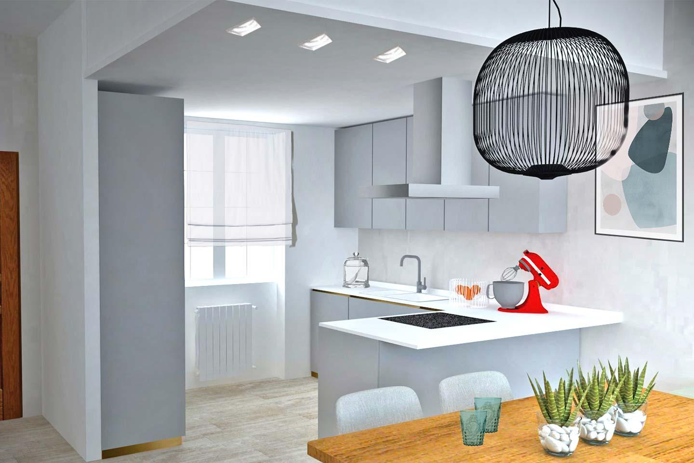 render cucina di Silvia Fabris Interior design