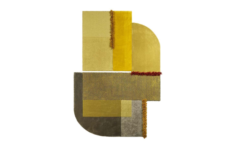 tappeto artigianale giallo Selce