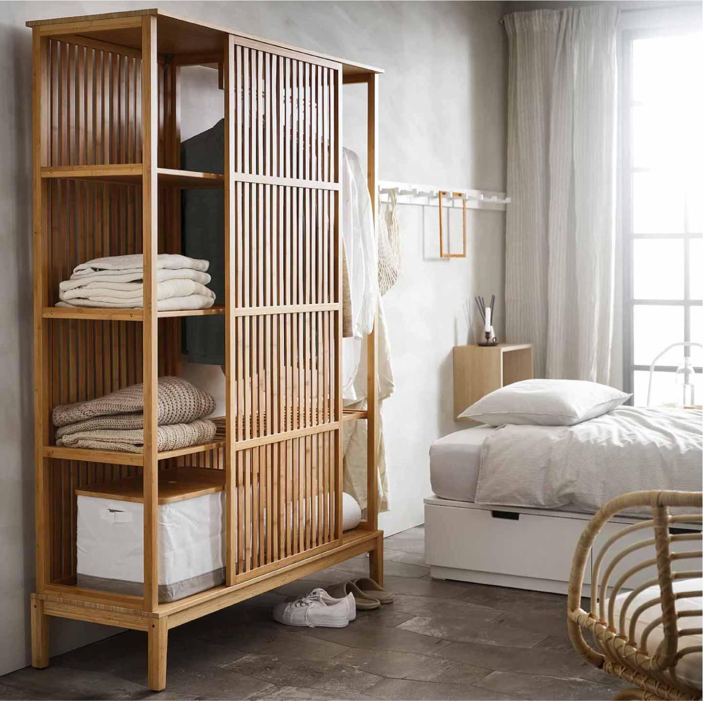 armadio a giorno in bambù