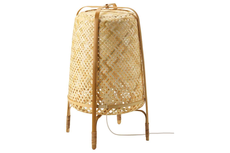 lampada da terra in bambù