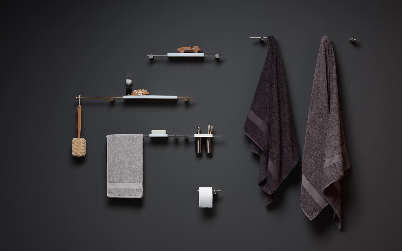 accessori bagno serie Elementa di Ritmonio
