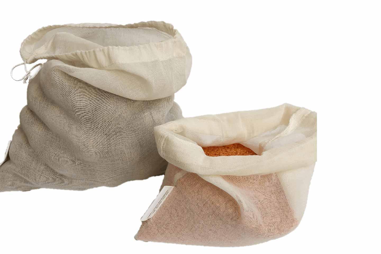 borse in cotone biologico per alimenti