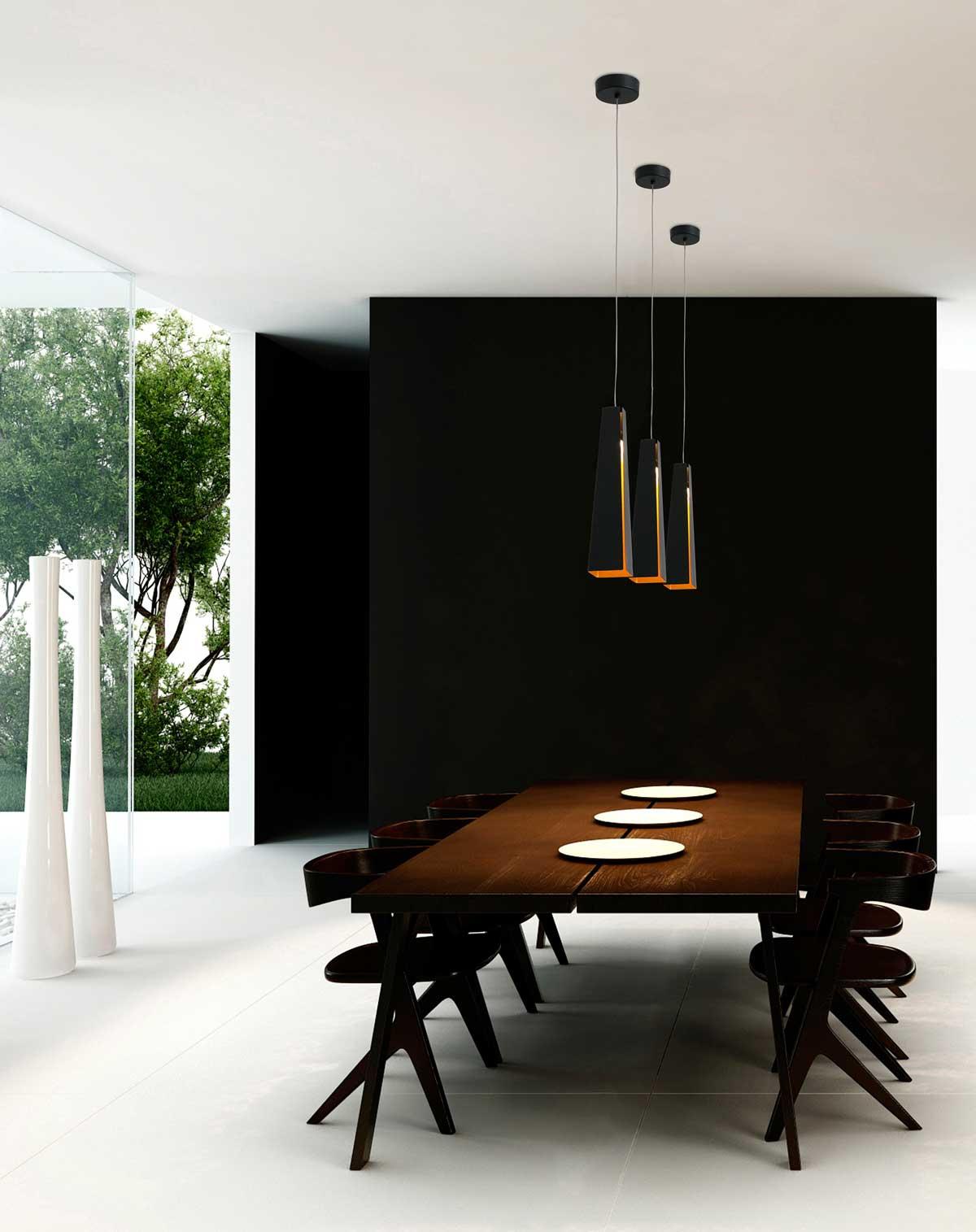 lampade a sospensione per illuminare il tavolo