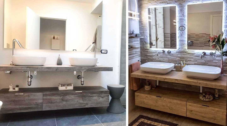 composizioni bagno con doppio lavabo